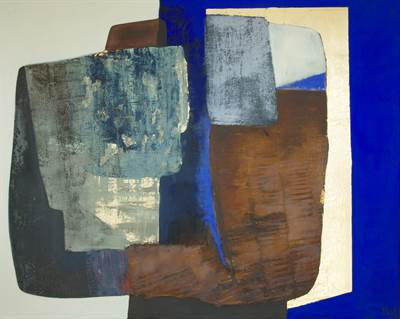 Abstract Blue and Rust