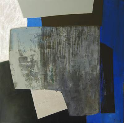 Abstract Zinc and Blue