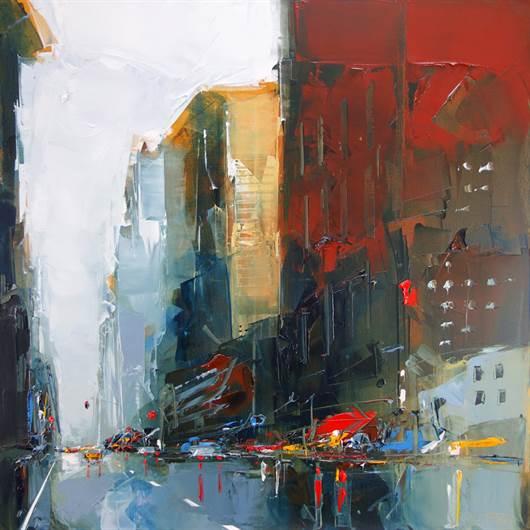 Ny red building 2 artfloor for Castan peintre
