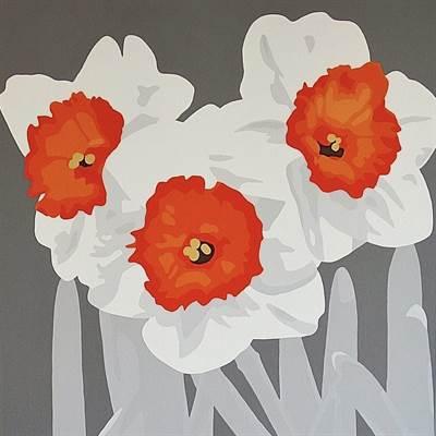 Orange and White Daffodils