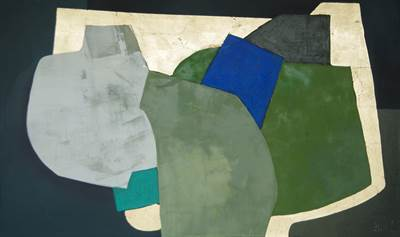 Abstract Green and Blue III