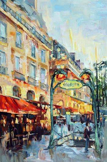 Paris - Métro Saint Michel