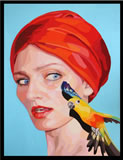 HOLDGAARD - Self Portrait with Bird - Peinture - ArtFloor.com