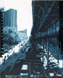 TIAN - HARLEM : 125th Street & Broadway (blue) - Peinture - ArtFloor.com