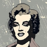 MARIE B. CROS - Marylin Metal (Homage to Andy) - Peinture - ArtFloor.com