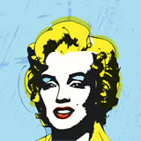 MARIE B. CROS - Marylin Original Spirit (Homage to Andy) - Peinture - ArtFloor.com