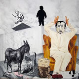 ANASTASAKOS - The Personhood Series - Donkey Years - Peinture - ArtFloor.com
